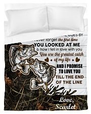 CUSTOMIZE VALENTINE GIFT - TO MY FISHERMAN Duvet Cover tile