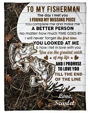 """CUSTOMIZE VALENTINE GIFT - TO MY FISHERMAN Small Fleece Blanket - 30"""" x 40"""" front"""