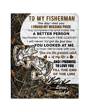 CUSTOMIZE VALENTINE GIFT - TO MY FISHERMAN Quilt tile