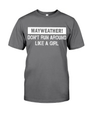 Mayweather - Don't run around like a girl Premium Fit Mens Tee front