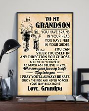 To My Grandson You Have Brains 11x17 Poster lifestyle-poster-2