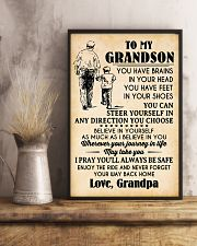 To My Grandson You Have Brains 11x17 Poster lifestyle-poster-3