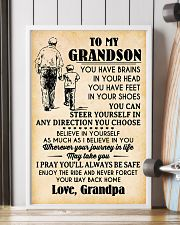 To My Grandson You Have Brains 11x17 Poster lifestyle-poster-4
