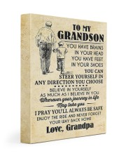 To My Grandson You Have Brains 11x14 Gallery Wrapped Canvas Prints thumbnail