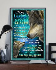 To My Loving Mom Wolves Poster 11x17 Poster lifestyle-poster-2
