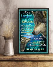 To My Loving Mom Wolves Poster 11x17 Poster lifestyle-poster-3