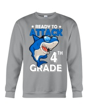 Ready To Attack 4th Grade  Crewneck Sweatshirt thumbnail