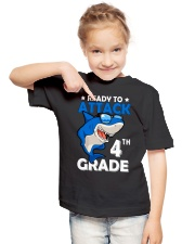 Ready To Attack 4th Grade  Youth T-Shirt lifestyle-youth-tshirt-front-2