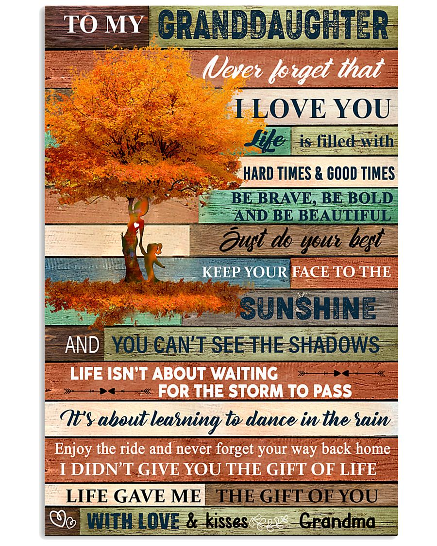 To My Granddaughter Tree Fall 11x17 Poster