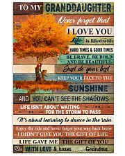 To My Granddaughter Tree Fall 11x17 Poster front
