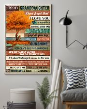 To My Granddaughter Tree Fall 11x17 Poster lifestyle-poster-1