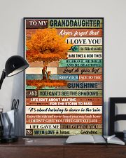 To My Granddaughter Tree Fall 11x17 Poster lifestyle-poster-2
