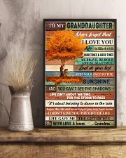 To My Granddaughter Tree Fall 11x17 Poster lifestyle-poster-3