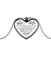 To My Beautiful Wife  Metallic Heart Necklace front