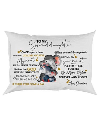 To My Granddaughter Elephant Pillow
