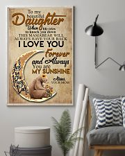 To My Beautiful Daughter When Life Tries To Knock  11x17 Poster lifestyle-poster-1