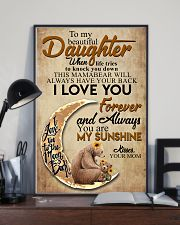 To My Beautiful Daughter When Life Tries To Knock  11x17 Poster lifestyle-poster-2