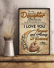 To My Beautiful Daughter When Life Tries To Knock  11x17 Poster lifestyle-poster-3