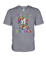 Straight Into 5th Grade V-Neck T-Shirt thumbnail