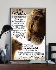 To My Mother Little Boy Son Lion Poster 11x17 Poster lifestyle-poster-2