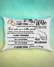 To My Wife Rectangular Pillowcase aos-pillow-rectangle-front-lifestyle-3