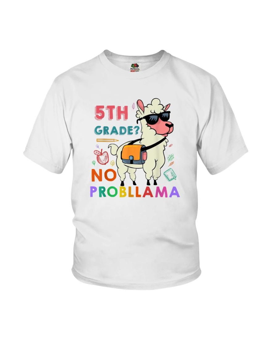 5th Grade No Probllama Youth T-Shirt