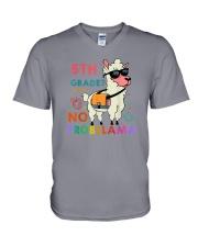 5th Grade No Probllama V-Neck T-Shirt thumbnail