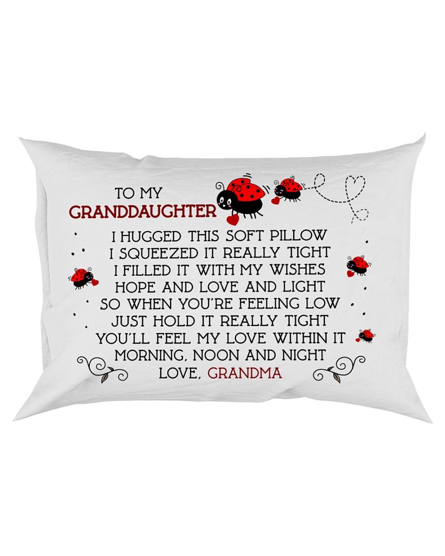 Pillow Bug Lady - To Granddaughter - Grandma Rectangular Pillowcase
