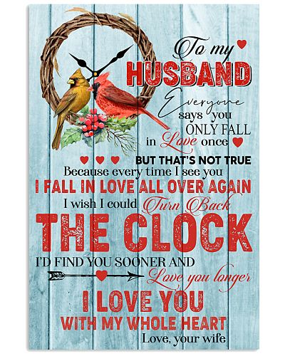 Poster To My Husband The Clock
