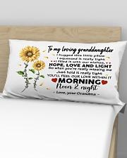 Pillow Sunflower To My Loving Granddaughter Rectangular Pillowcase aos-pillow-rectangular-front-lifestyle-02