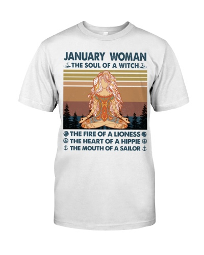 January Woman Witch Lioness Hippie Sailor