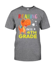 Dinosaur Roaring Into 4th Grade Classic T-Shirt tile