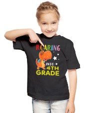 Dinosaur Roaring Into 4th Grade Youth T-Shirt lifestyle-youth-tshirt-front-2