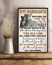 To My Granddaughter 11x17 Poster lifestyle-poster-3