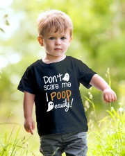 Don't Scare Me I Poop Easily Youth T-Shirt lifestyle-youth-tshirt-front-5