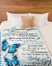 "To My Granddaughter - Blanket - Grandma Large Fleece Blanket - 60"" x 80"" aos-coral-fleece-blanket-60x80-lifestyle-front-02"