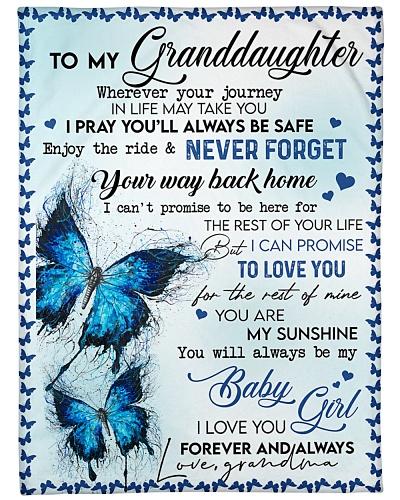To My Granddaughter - Blanket - Grandma