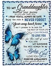 "To My Granddaughter - Blanket - Grandma Large Fleece Blanket - 60"" x 80"" front"