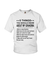 5 Things You Should Know About My Grandma Youth T-Shirt front