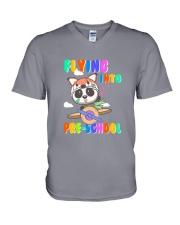Flying Into Pre-School V-Neck T-Shirt thumbnail