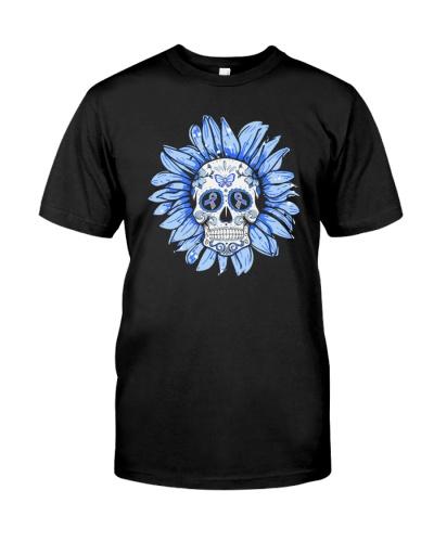 Diabetes Flower Skull HBH  05