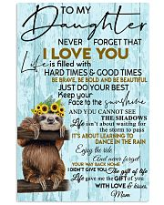 To My Daughter Sloth Blue 11x17 Poster front