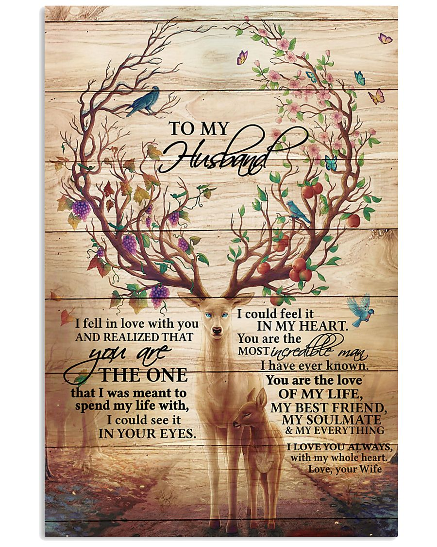 To My Husband Deer 11x17 Poster