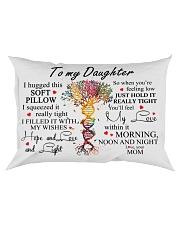 To My Daughter I Hugged This Soft Pillow Rectangular Pillowcase front