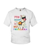 7th Grade No Probllama Youth T-Shirt front