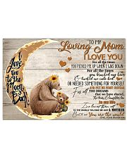 To My Loving Mom Bear 17x11 Poster front
