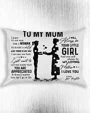 Pillow Daughter To Mom Rectangular Pillowcase aos-pillow-rectangle-front-lifestyle-4