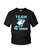 Team 4th Grade Shark Youth T-Shirt front