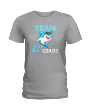 Team 4th Grade Shark Ladies T-Shirt thumbnail