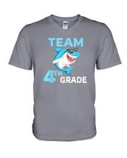 Team 4th Grade Shark V-Neck T-Shirt thumbnail